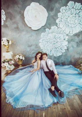 Ảnh cưới đẹp tại phim trường santorini