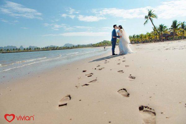 Bức ảnh cưới bãi biển đẹp
