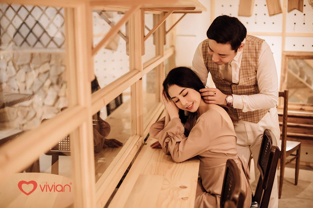 Album ảnh cưới lãng mạn tại Quán cafe, Phim trường