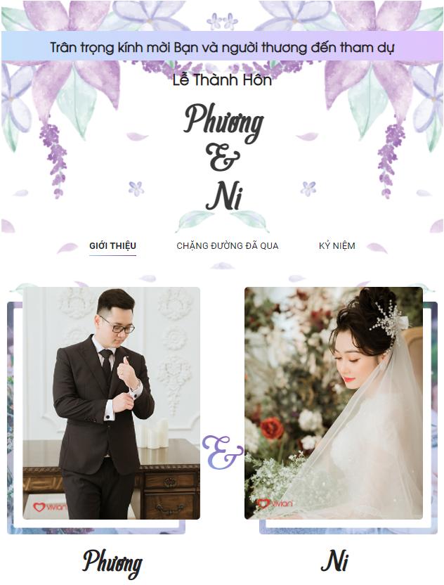 Thiệp cưới điện tử chuẩn bị cho đám cưới