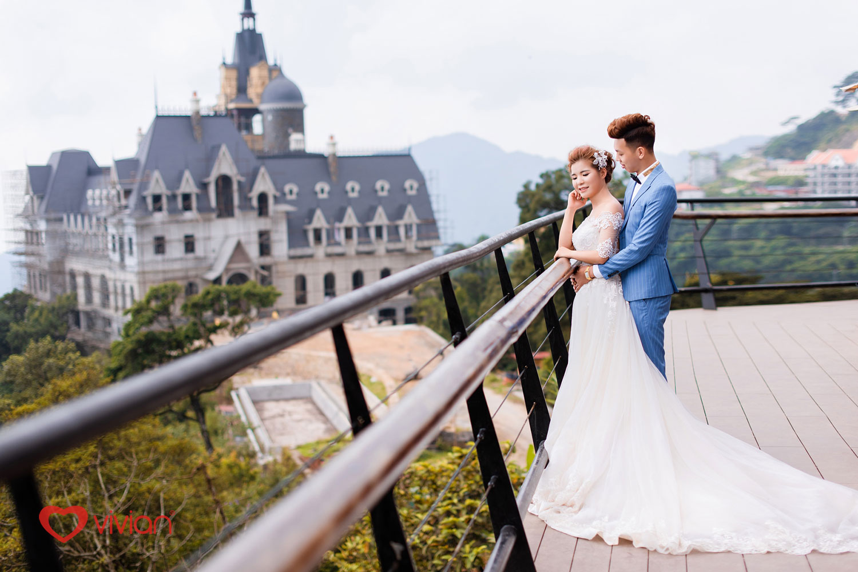 Chụp ảnh cưới tại quán gió Tam Đảo