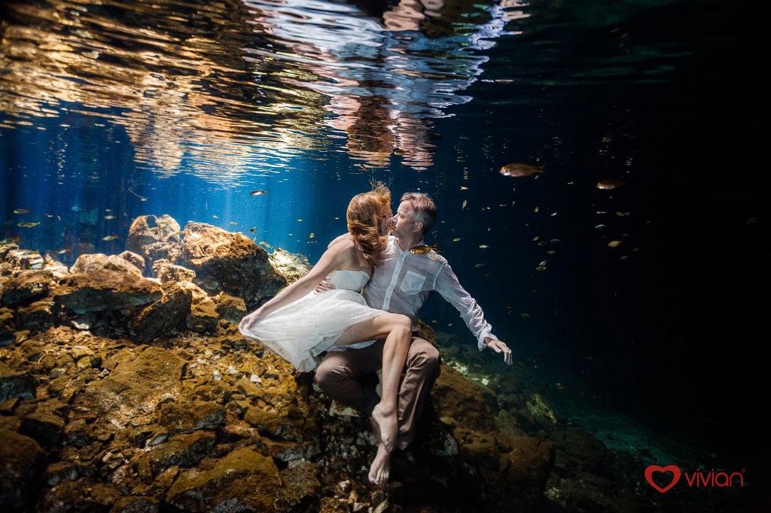 bộ ảnh cưới dưới nước