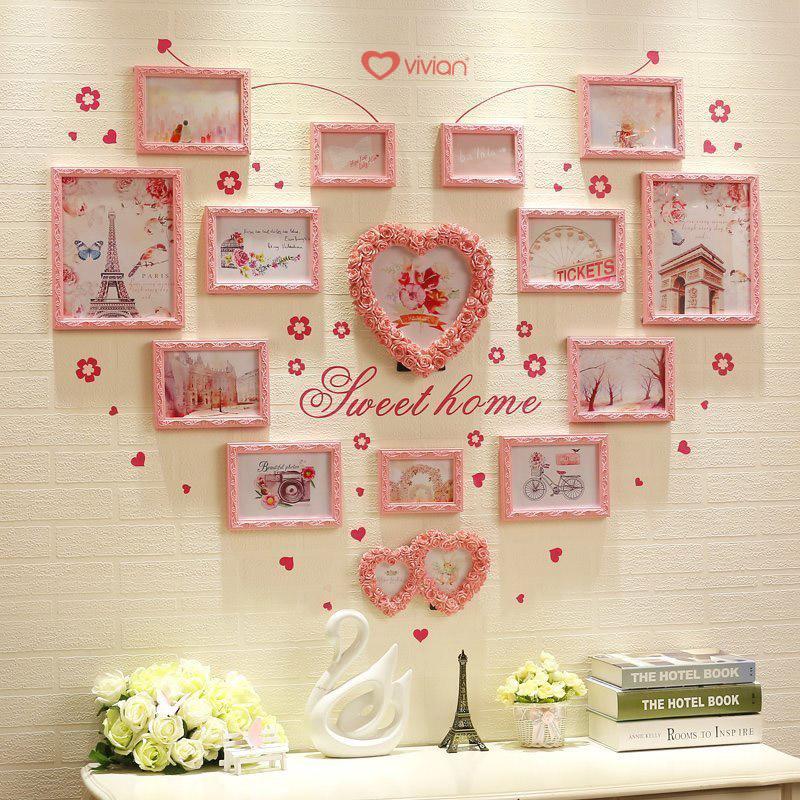 khung ảnh trang trí phòng tân hôn